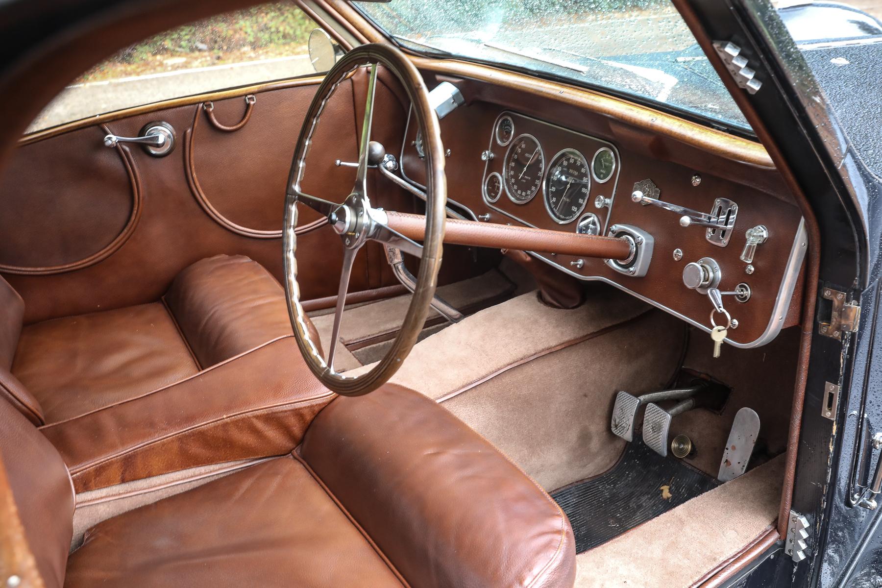 1937 Bugatti Type 57S Atalante interior cockpit