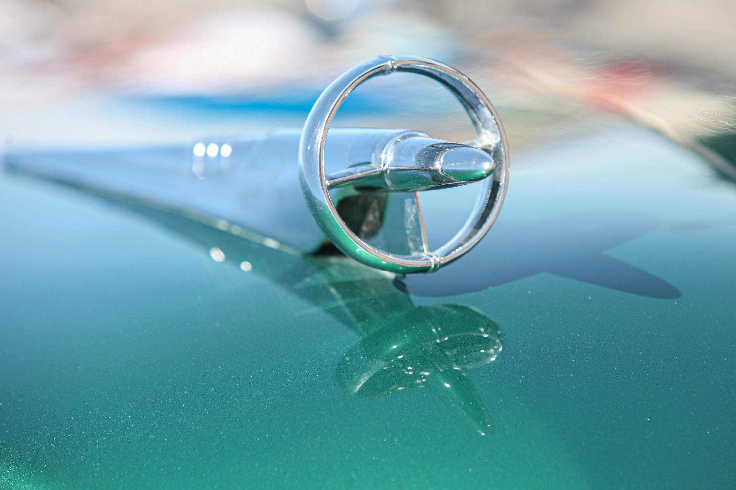 1951 Buick Hood ornament gun sight