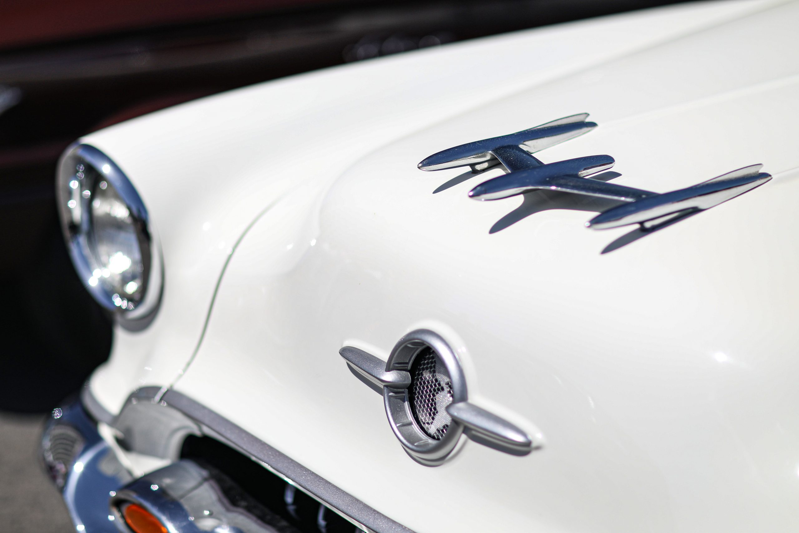 1955 Oldsmobile rocket hood ornament