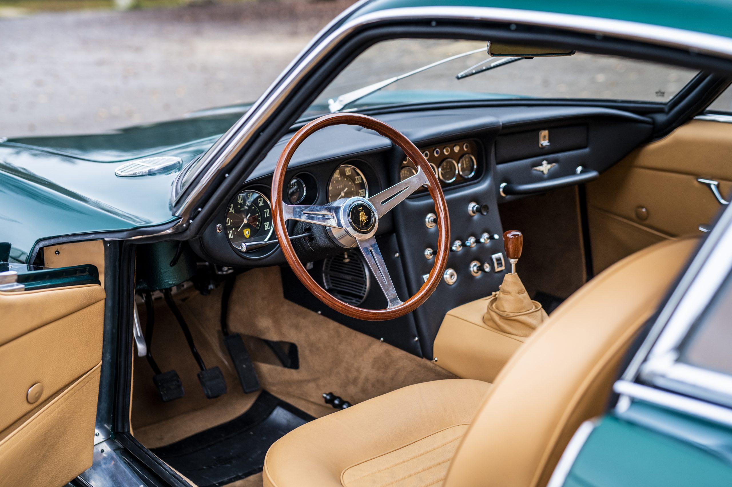 1967 Lamborghini 400 GT 2+2 interior
