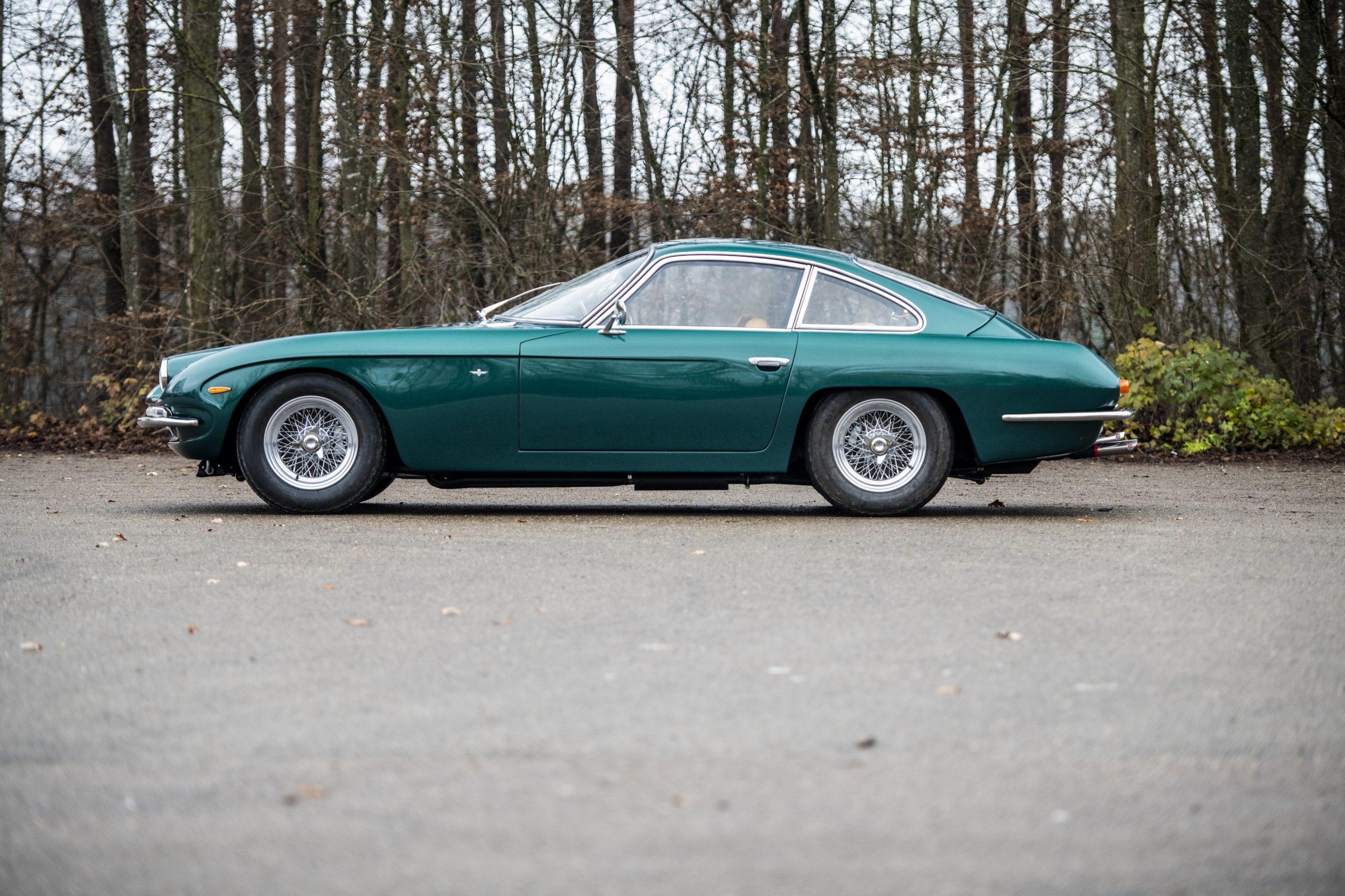 1967 Lamborghini 400 GT 2+2 side profile