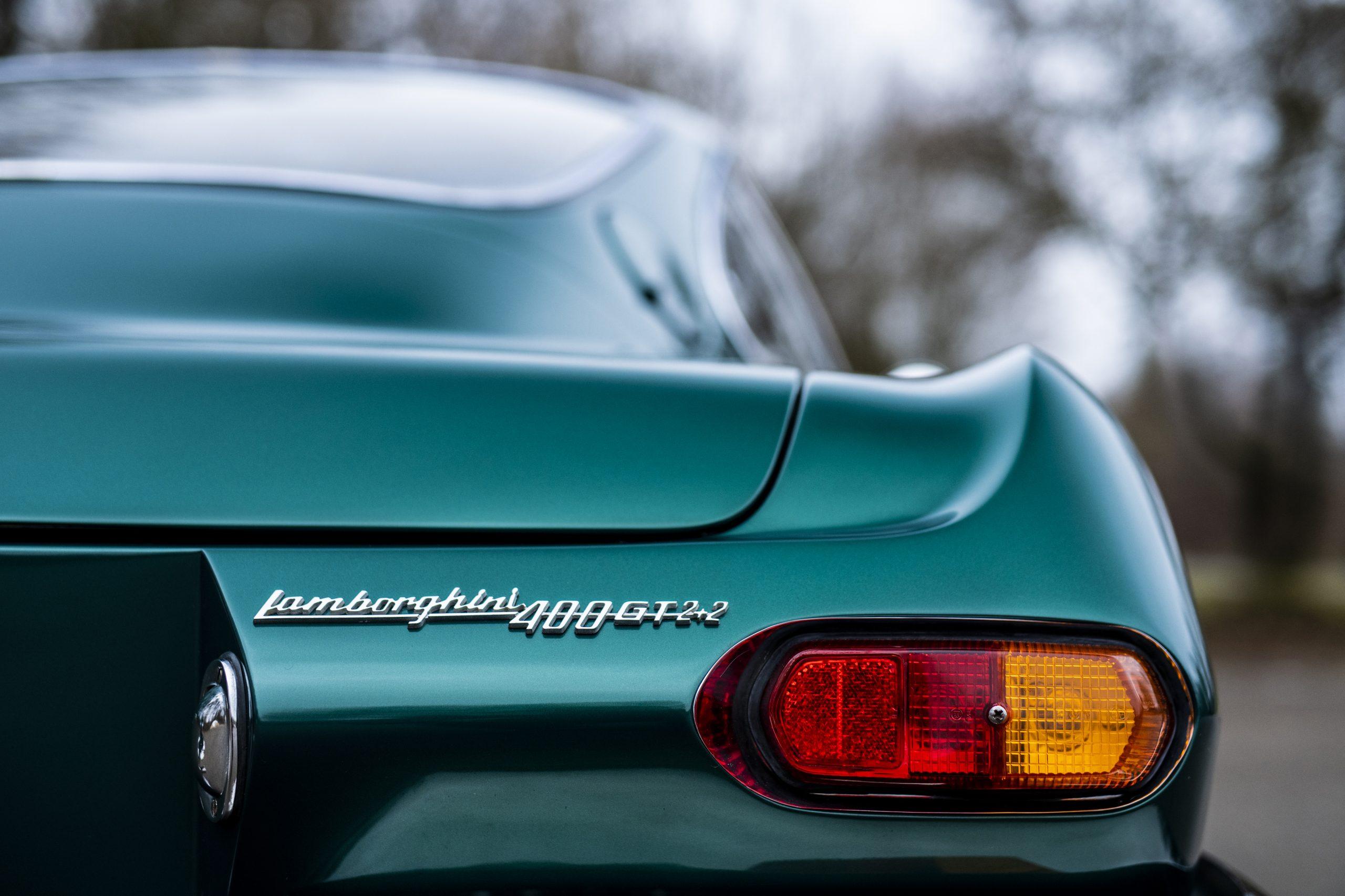1967 Lamborghini 400 GT 2+2 rear badge