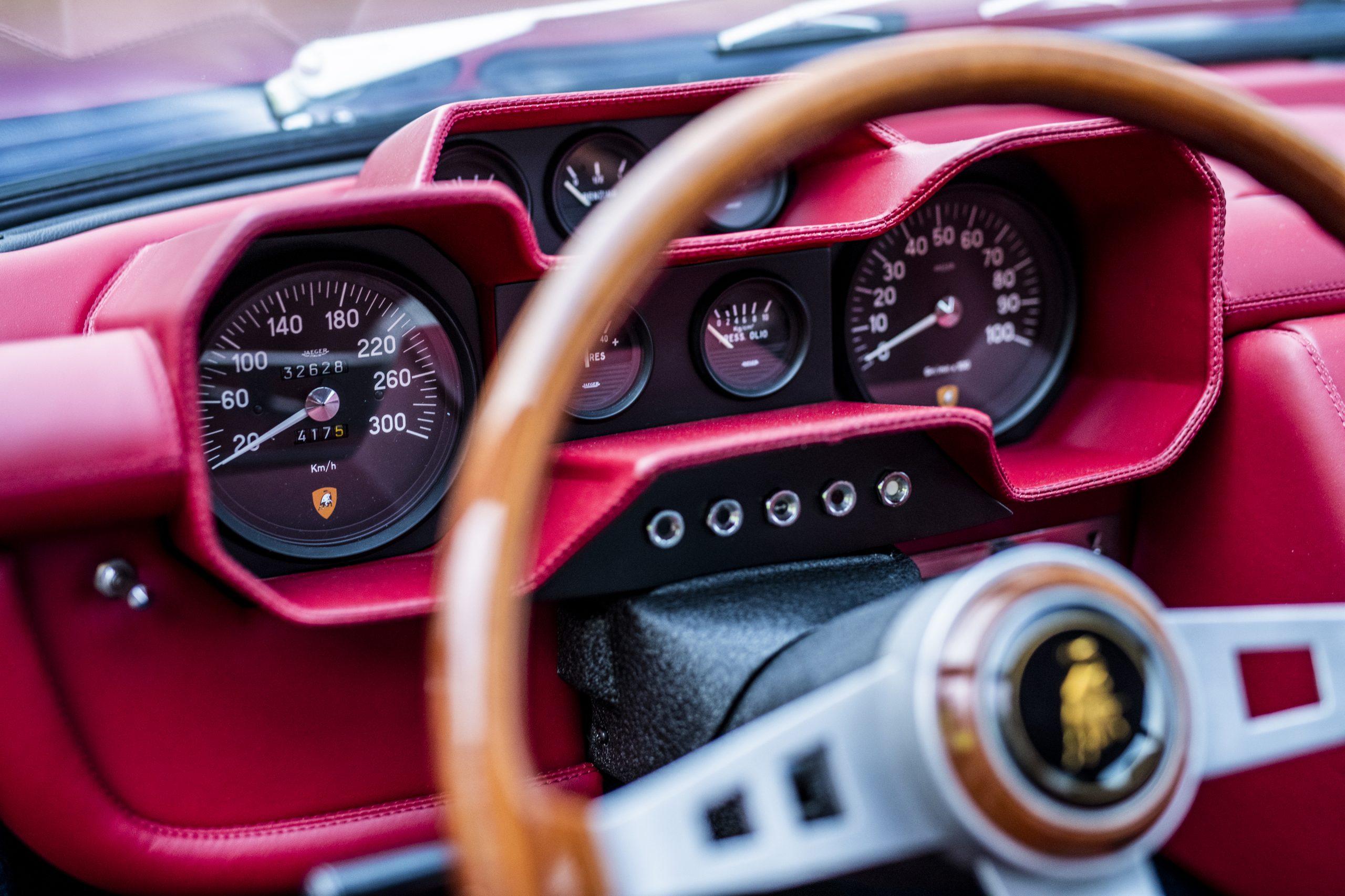 1968 Lamborghini Espada Series I by Bertone interior gauges