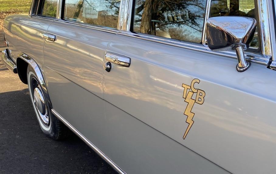 1969 Mercedes-Benz 600 Elvis car side TCB graphic