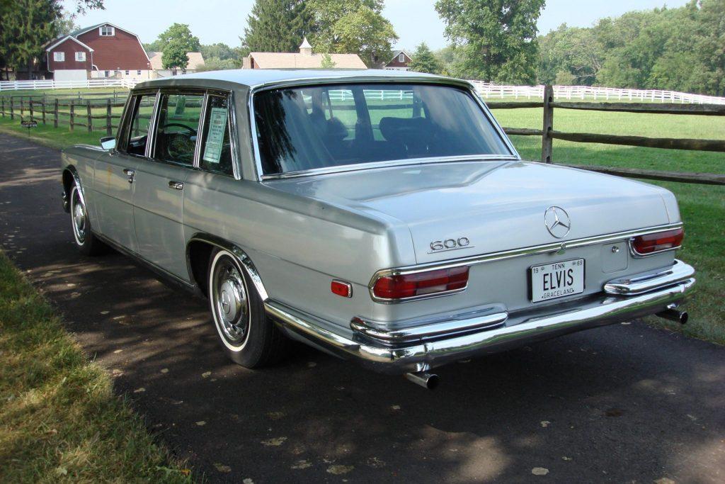 1969 Mercedes-Benz 600 Elvis car rear three-quarter