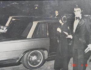 1969 Mercedes-Benz 600 and Elvis historical black and white