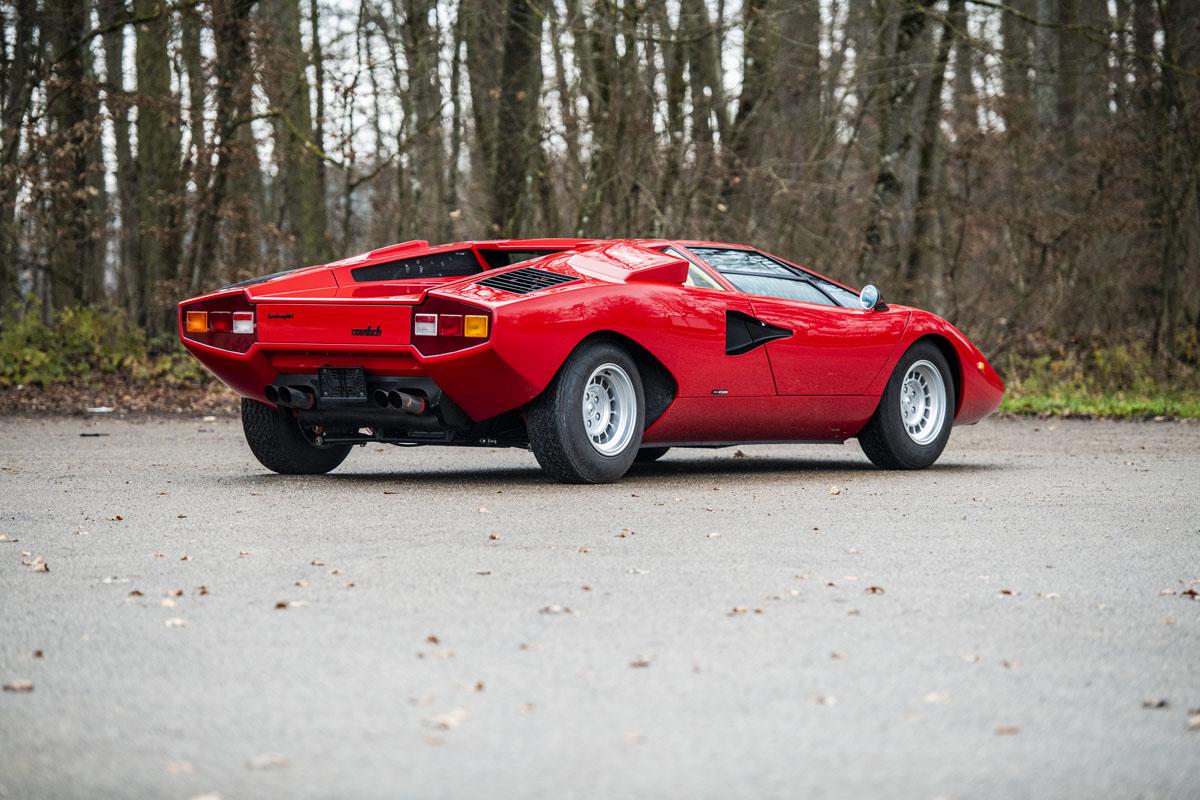 1977 Lamborghini Countach LP400 Periscopio rear three-quarter