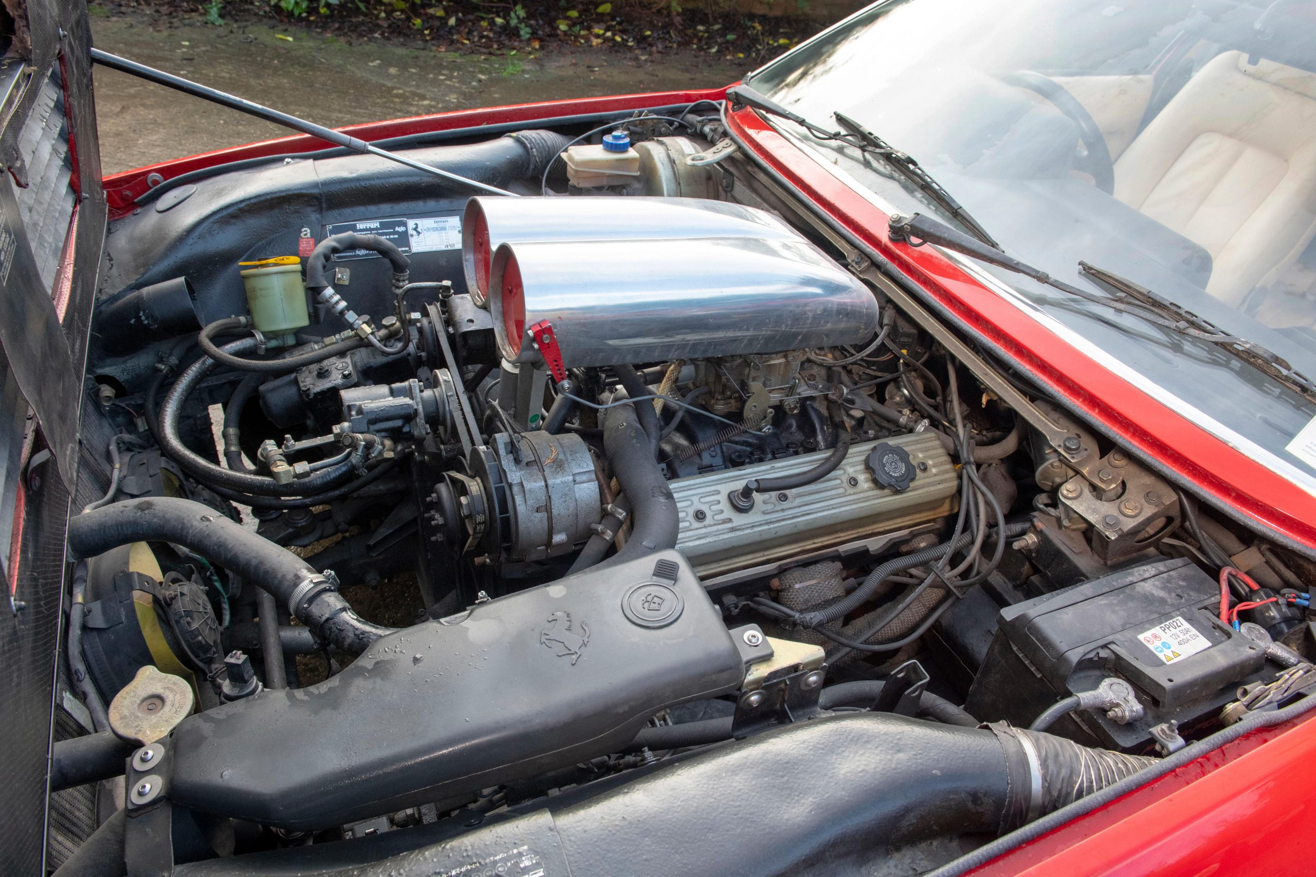 1985 Ferrari 412 Custom Pickup engine bay