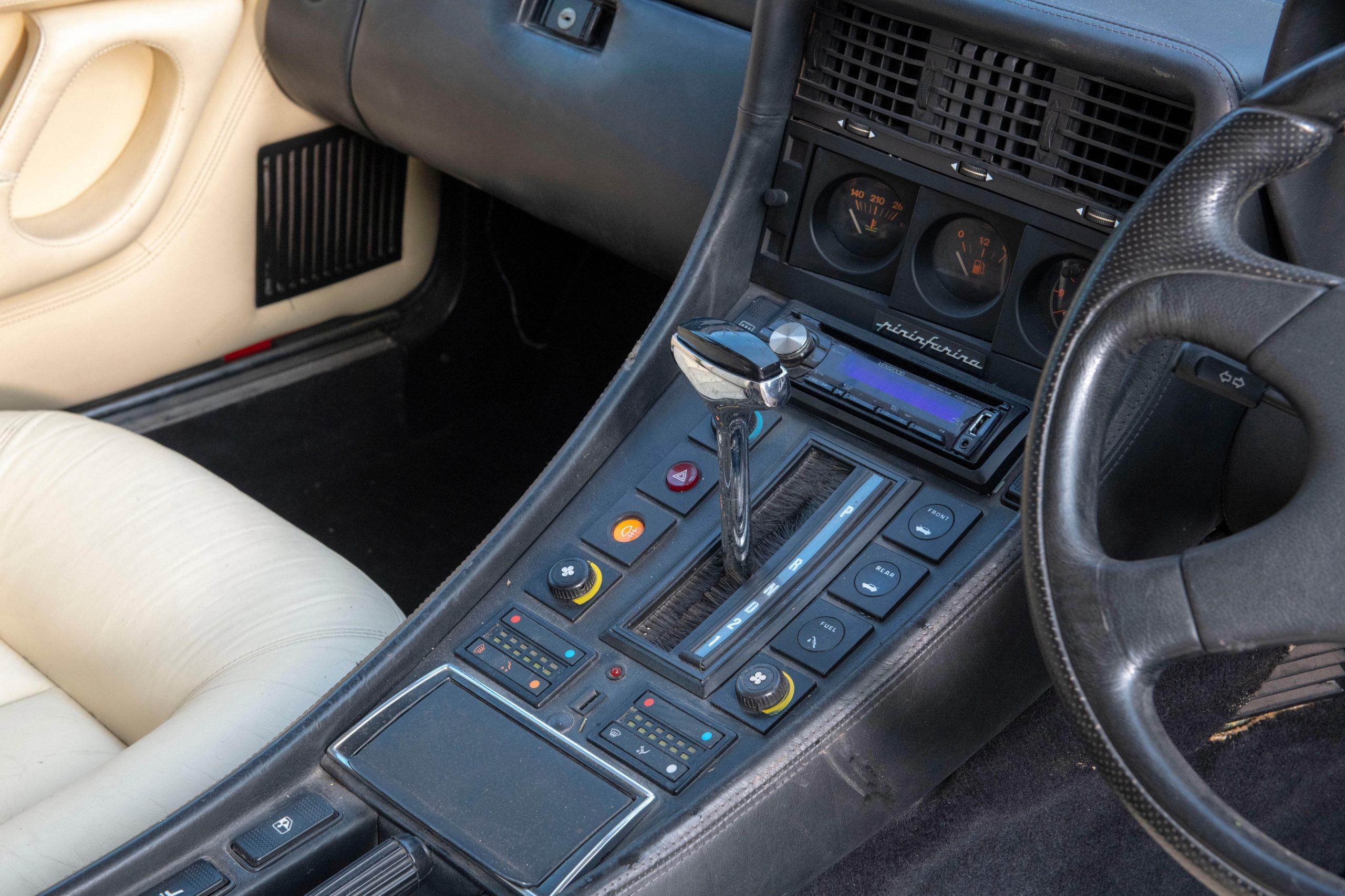 1985 Ferrari 412 Custom Pickup interior gear select