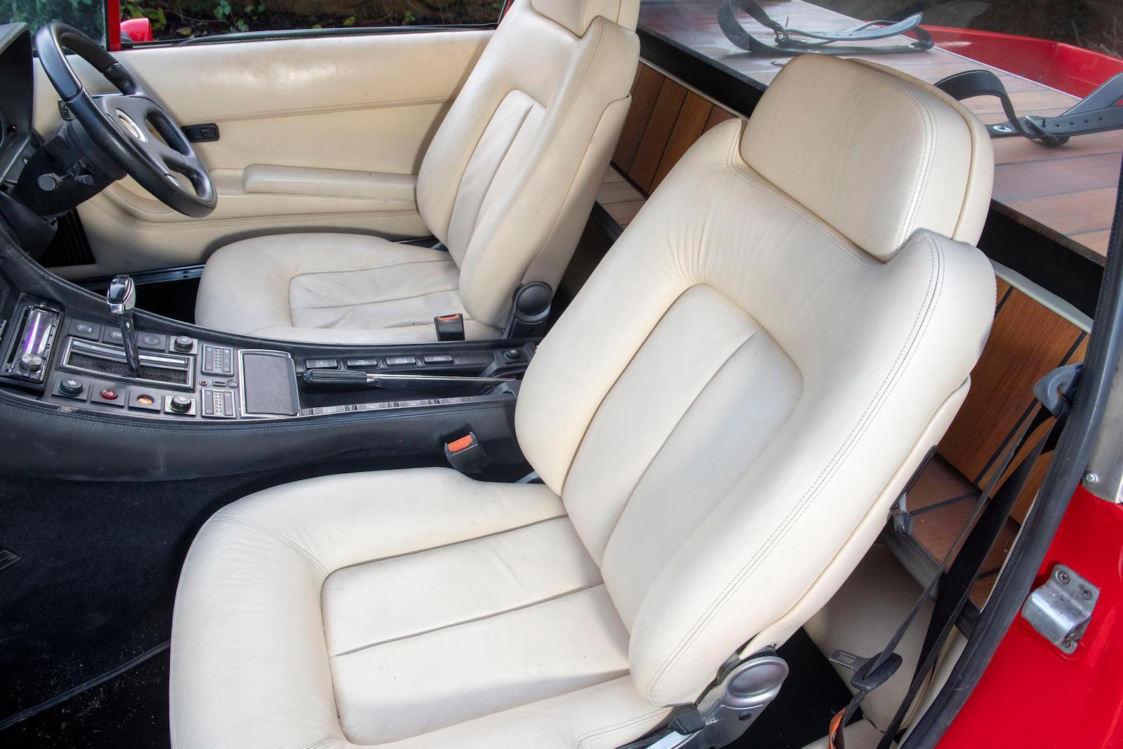 1985 Ferrari 412 Custom Pickup interior front seat