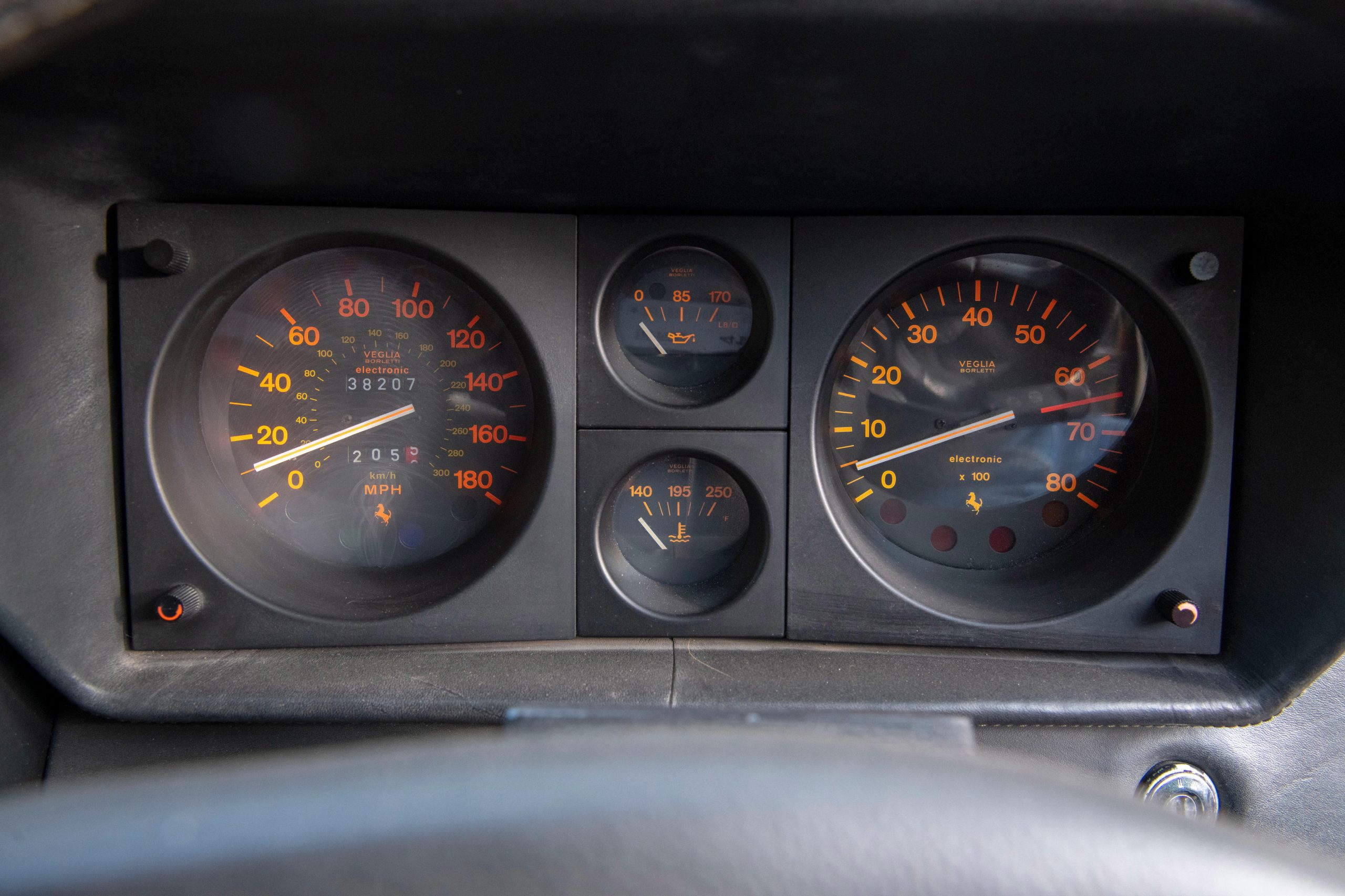 1985 Ferrari 412 Custom Pickup interior dash gauges