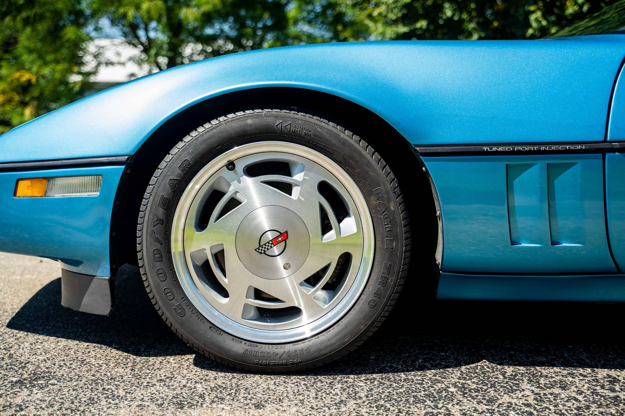 Chevy Vette King of the Hill Prototype front wheel detail