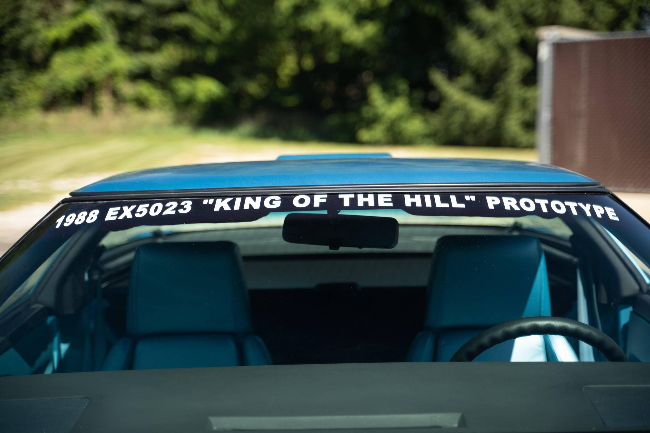 Chevy Vette King of the Hill Prototype lettering