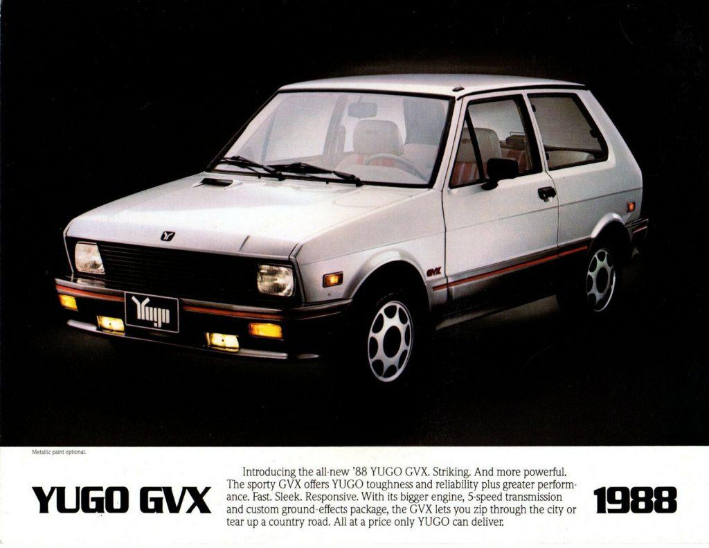 1988 Yugo GVX Brochure