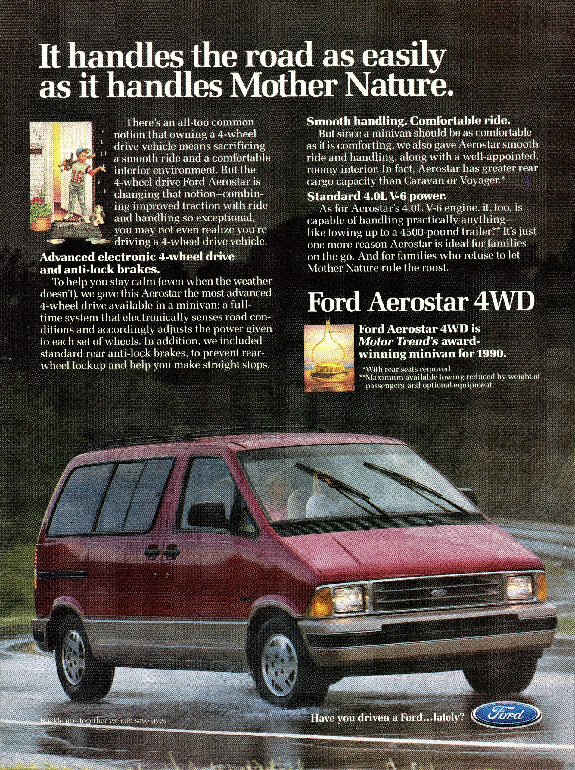 1991 Ford Aerostar ad
