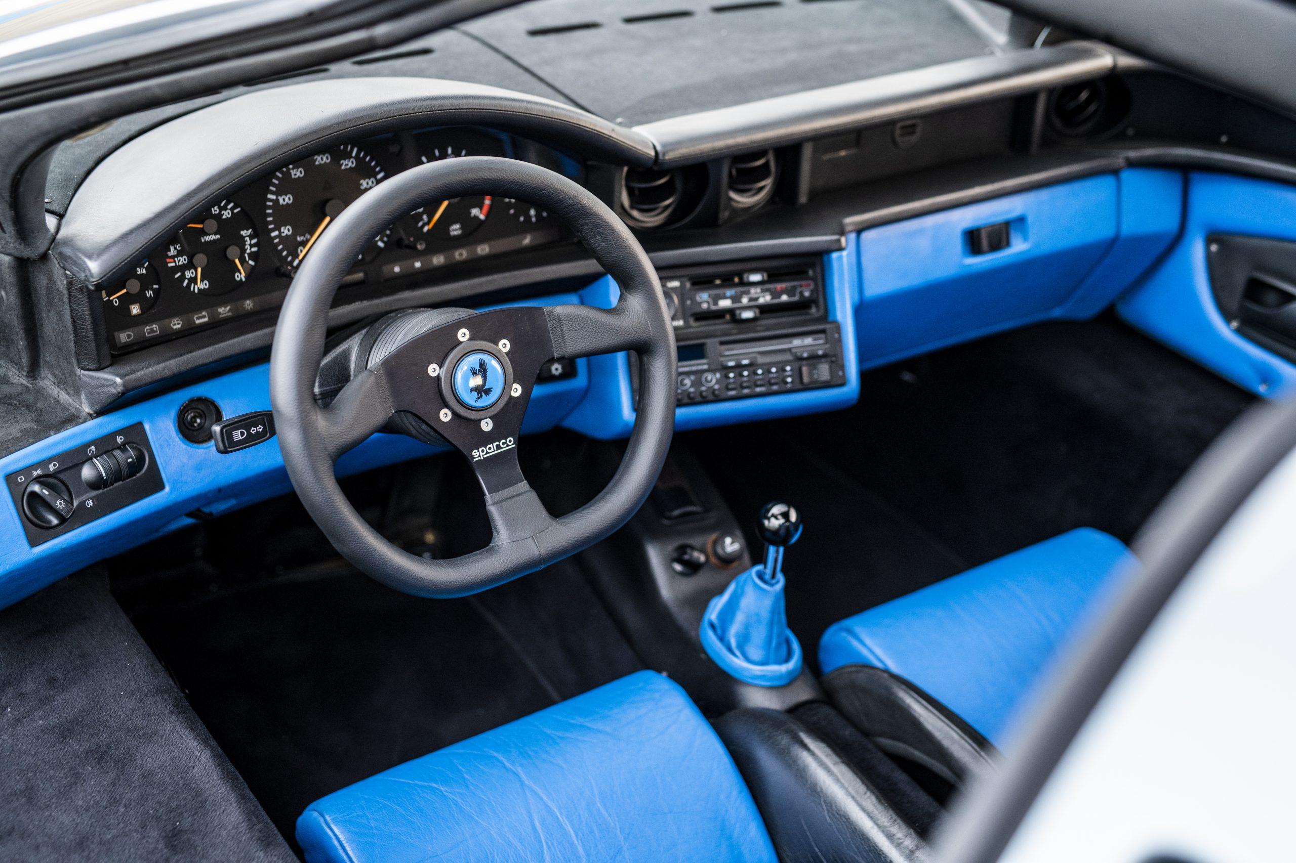 1993 Isdera Commendatore 112i interior front dash wheel