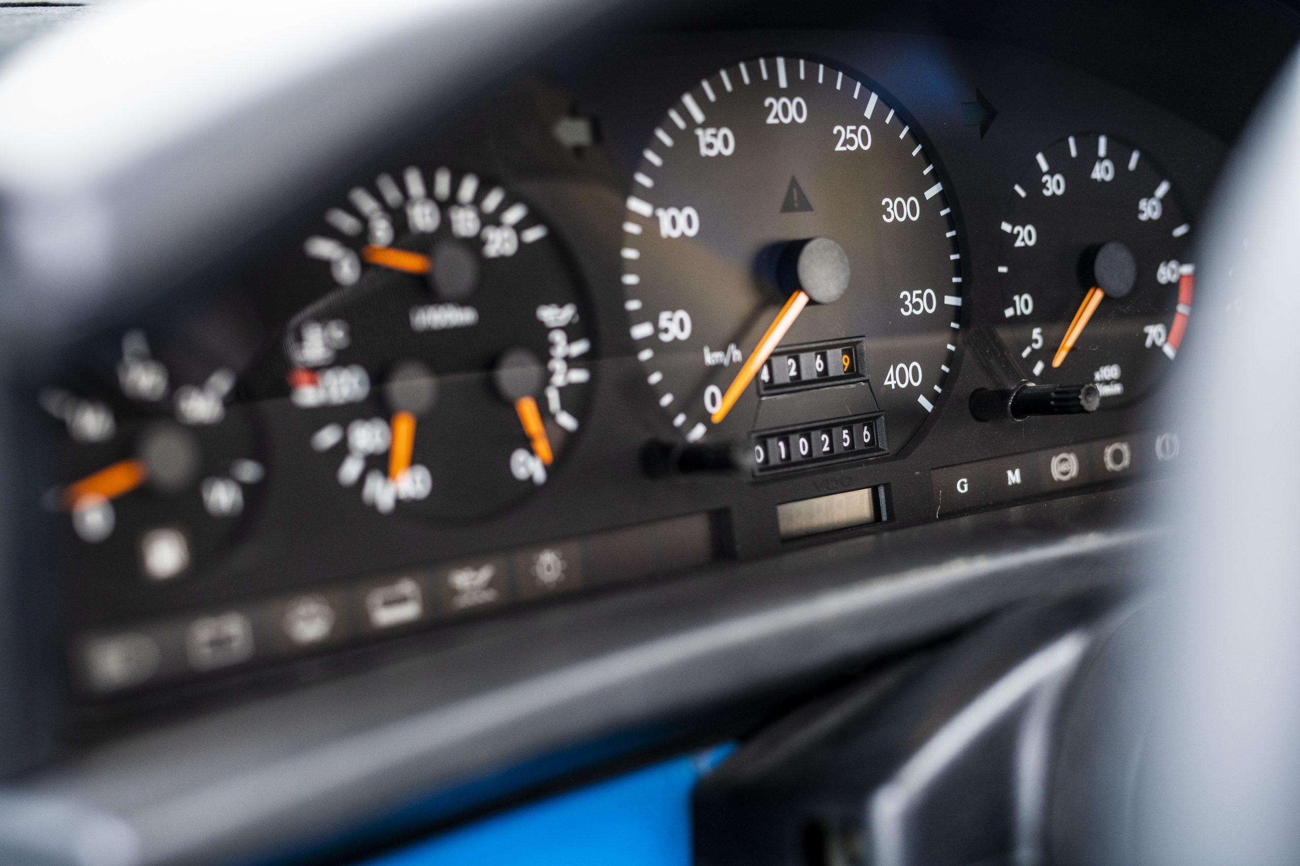 1993 Isdera Commendatore 112i interior dash gauge detail