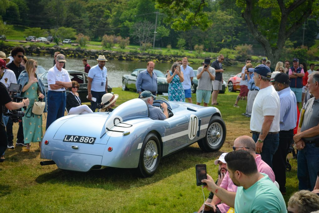 greenwich concours vintage car and spectators