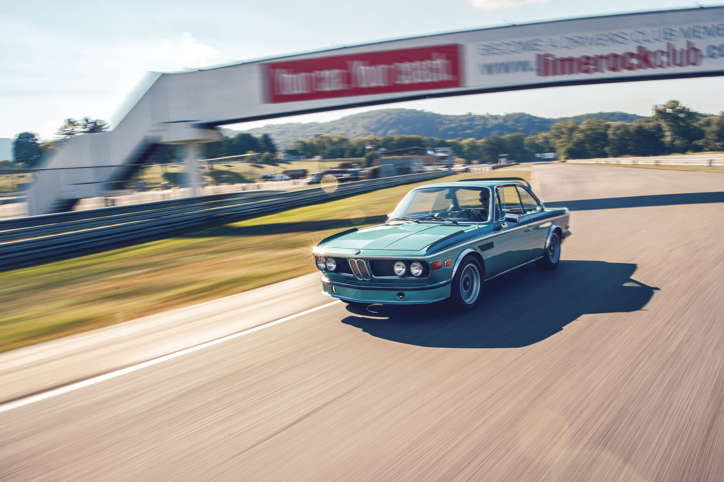 bmw 3-0 csl front three-quarter dynamic action