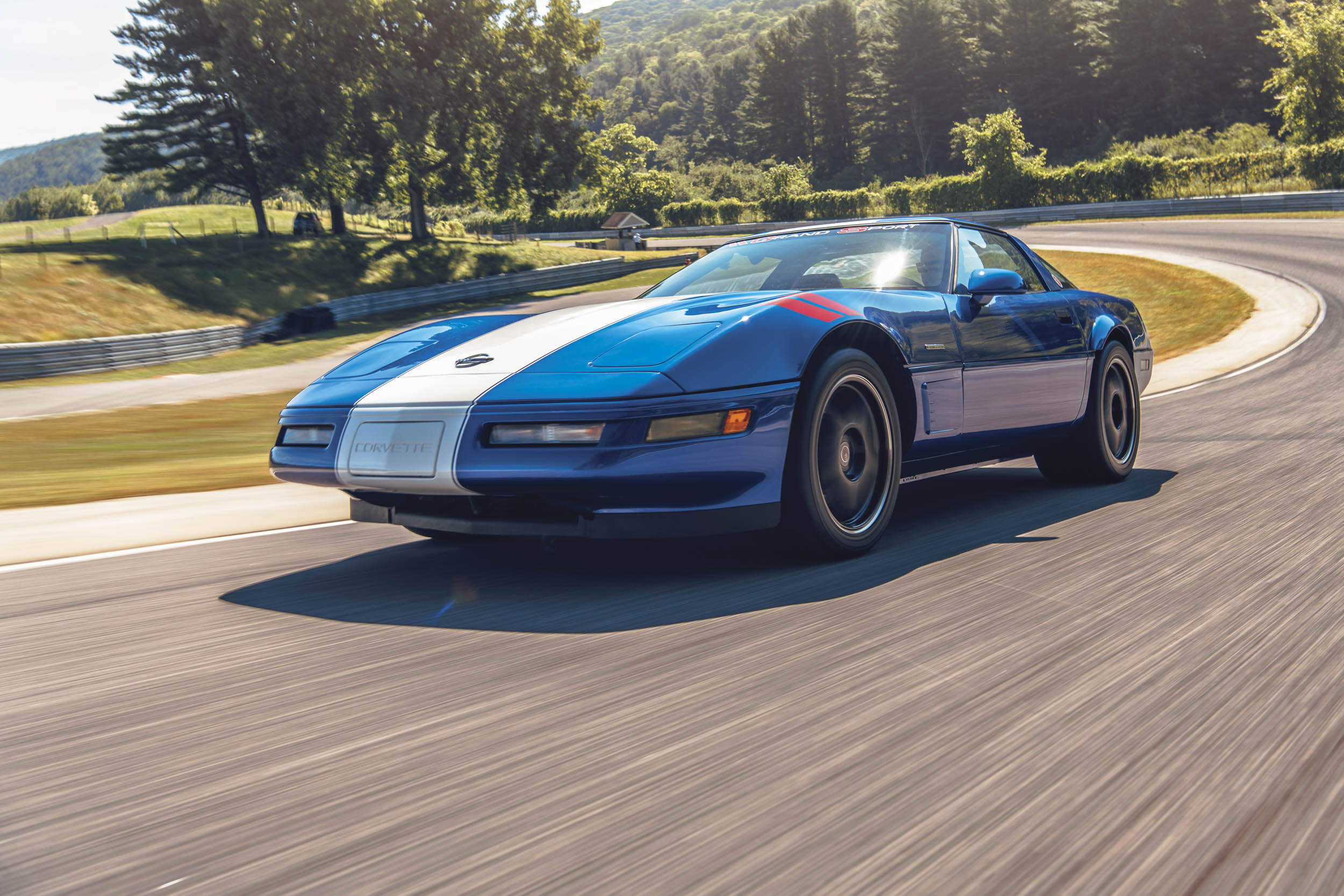 corvette gran sport front three-quarter action