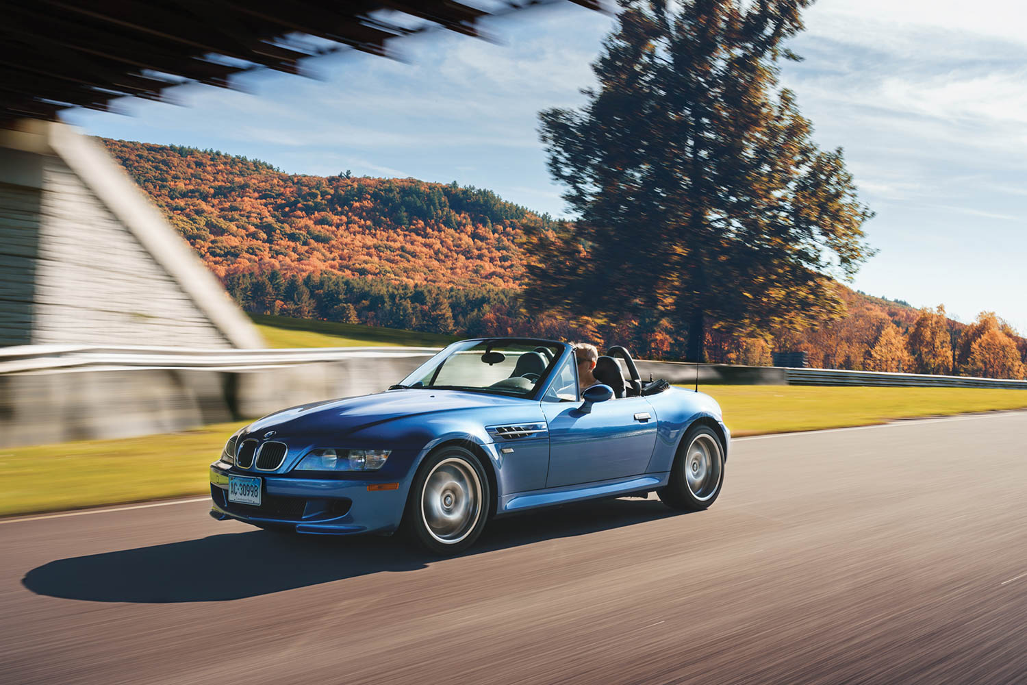 bmw m roadster front three-quarter dynamic action