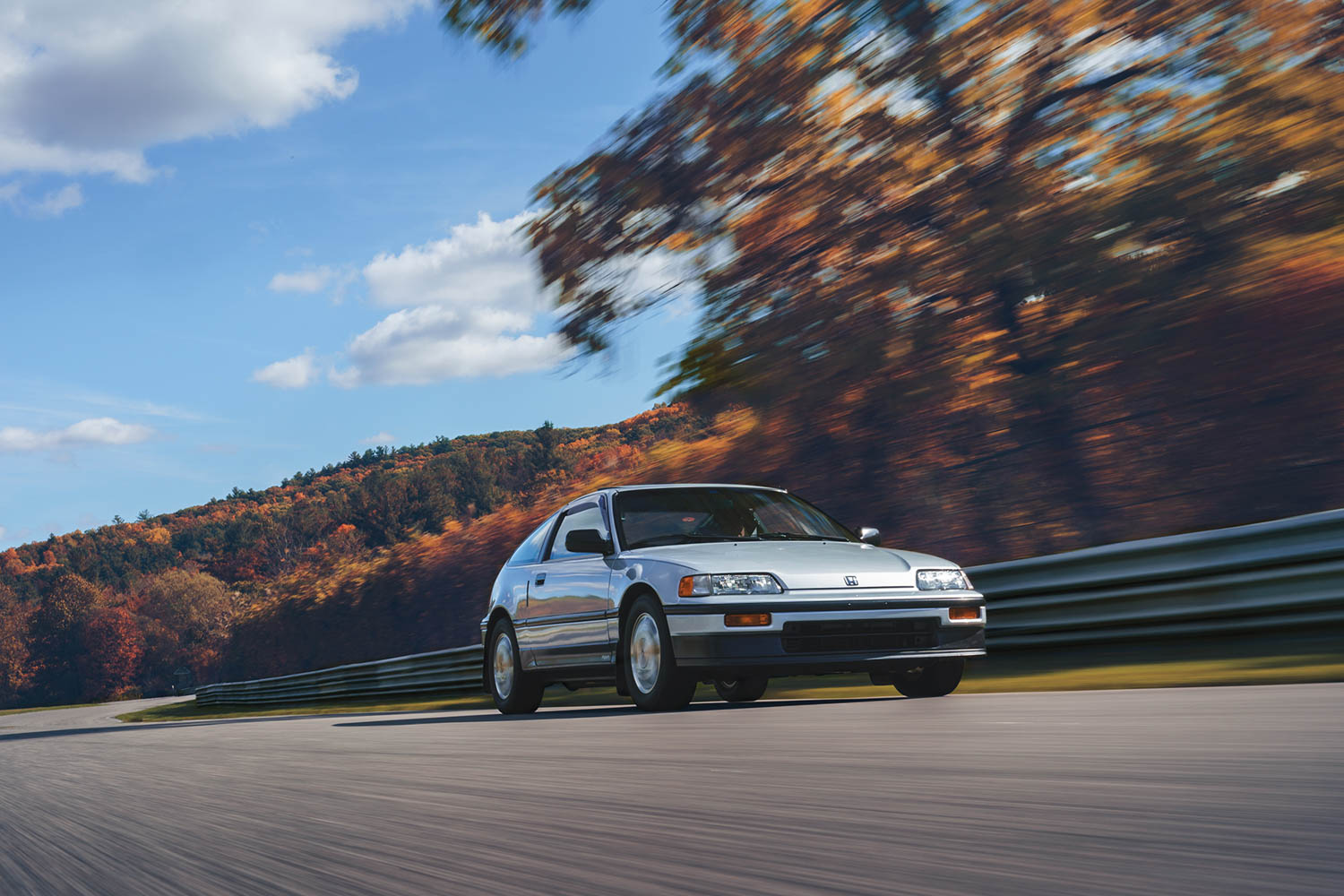 honda crx si front three-quarter dynamic action