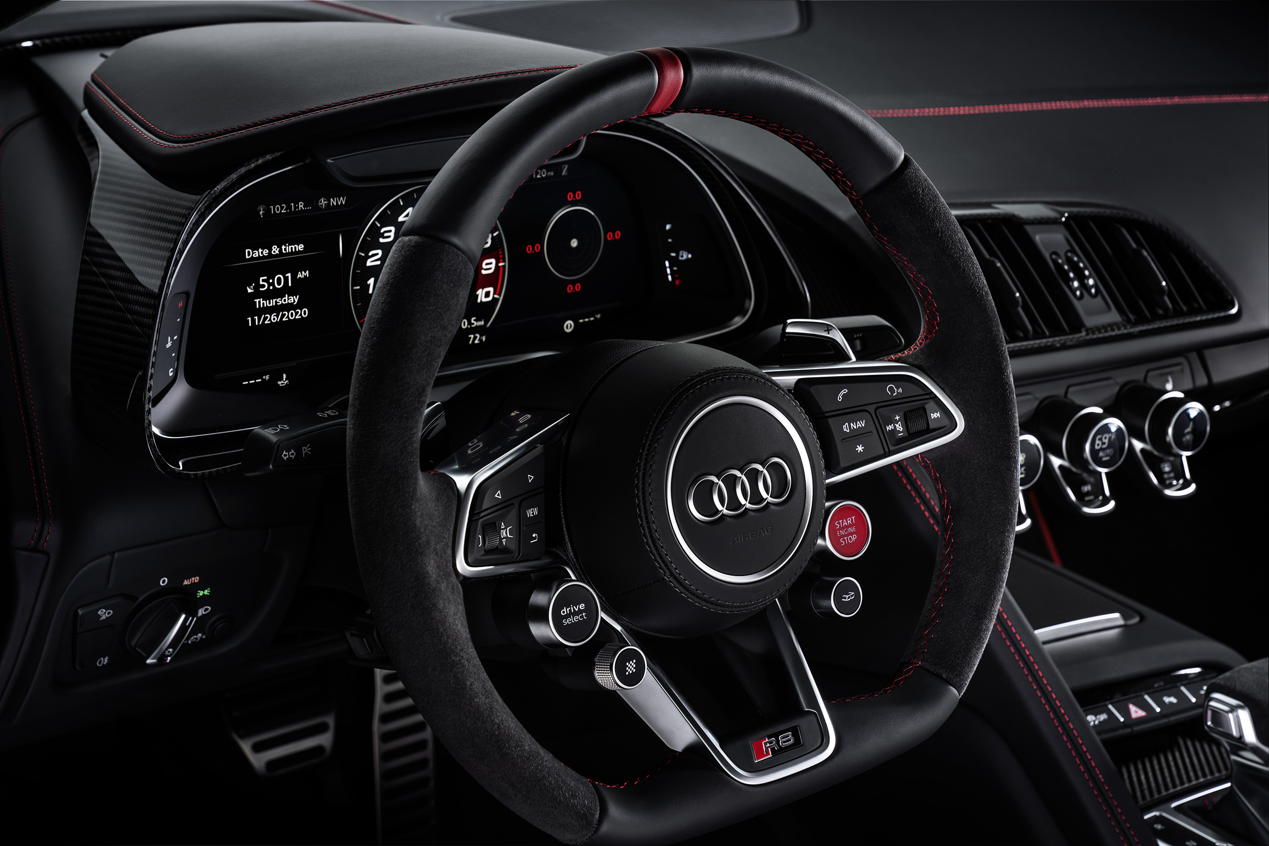 2021 Audi R8 Panther Edition steering wheel