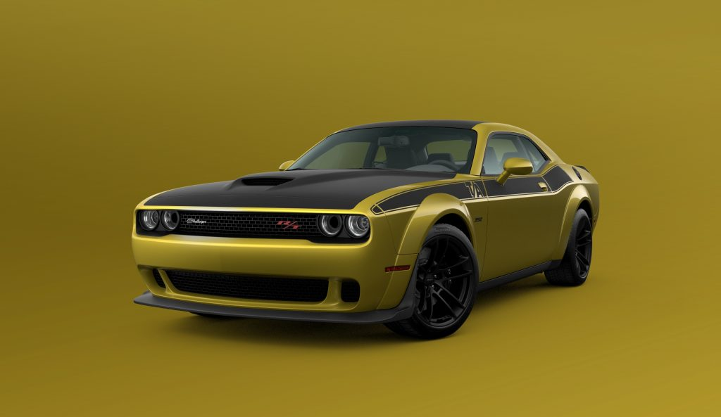 2021 Dodge Challenger T/A 392 Widebody in Gold Rush paint