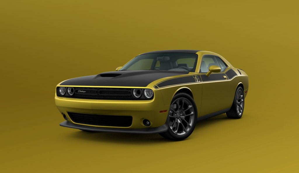 2021 Dodge Challenger T/A in Gold Rush paint