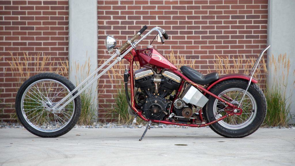 53 Harley Davidson Panhead chopper Mecum