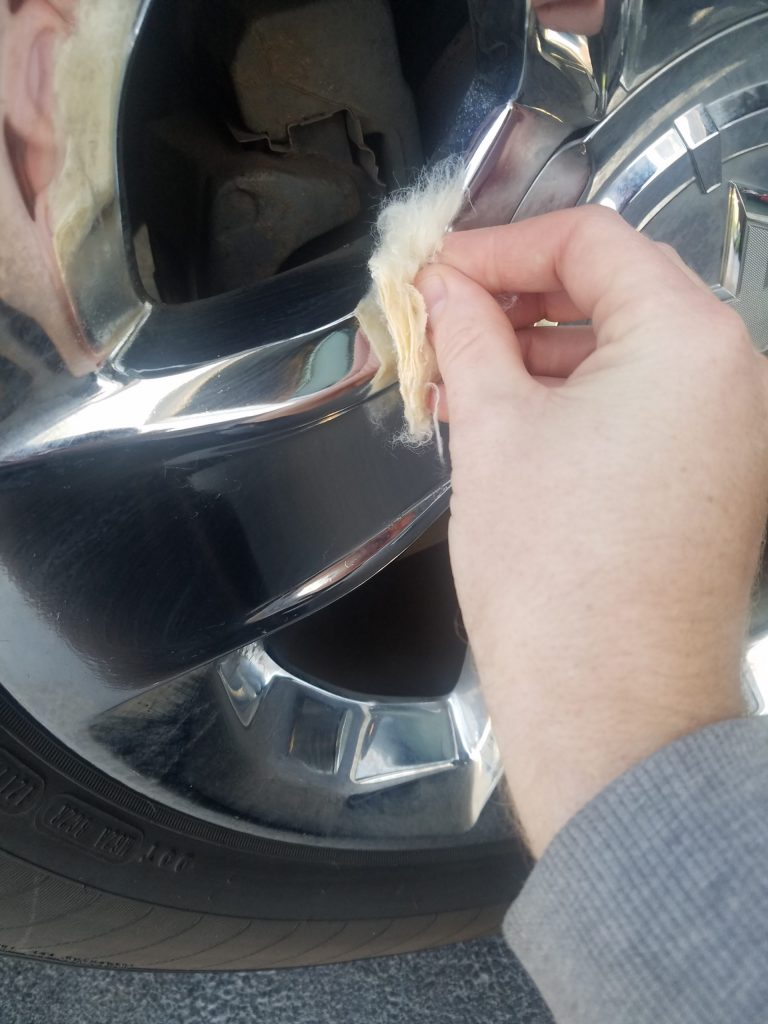 Cleaning wheels with Never Dull