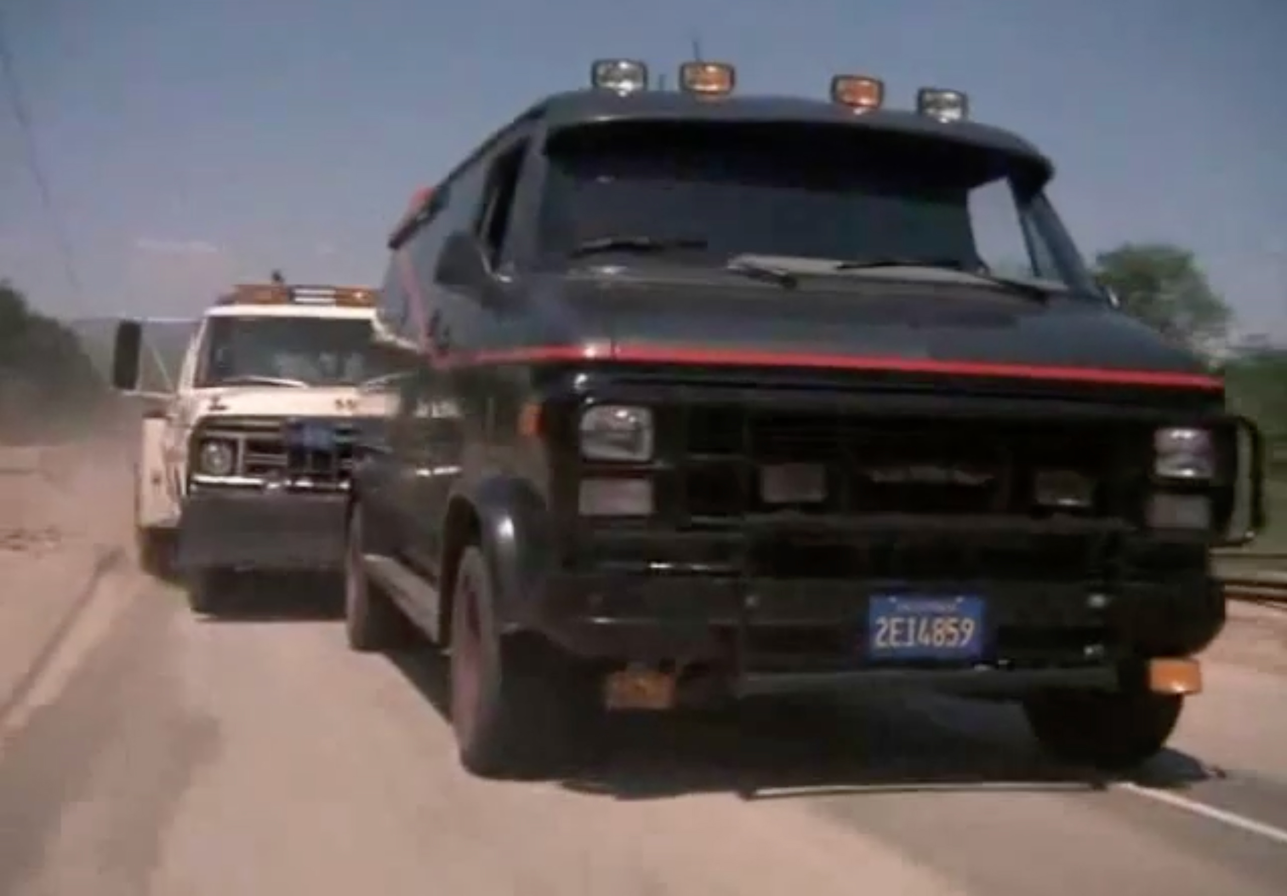 A-Team GMC Van Chase Scene