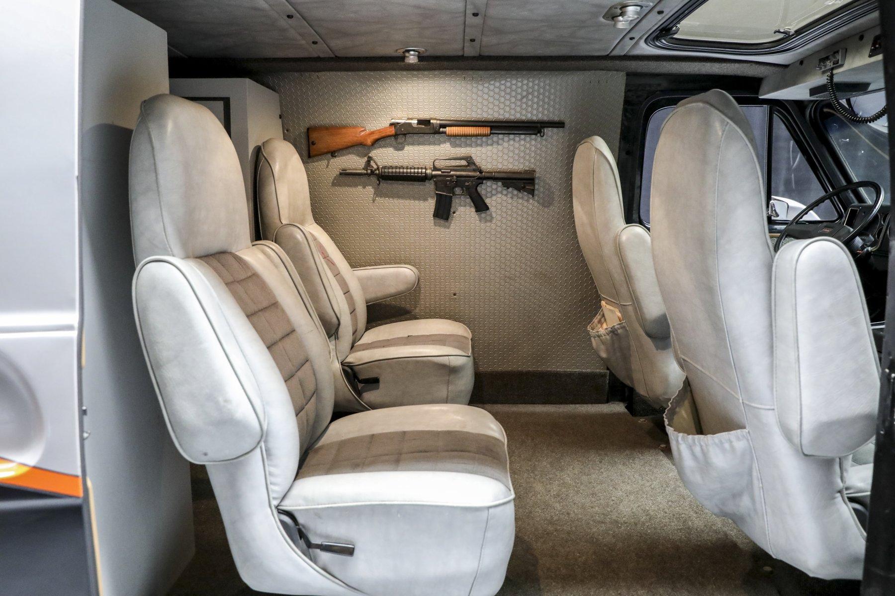 A-Team GMC G-Series 83 Van interior passengers