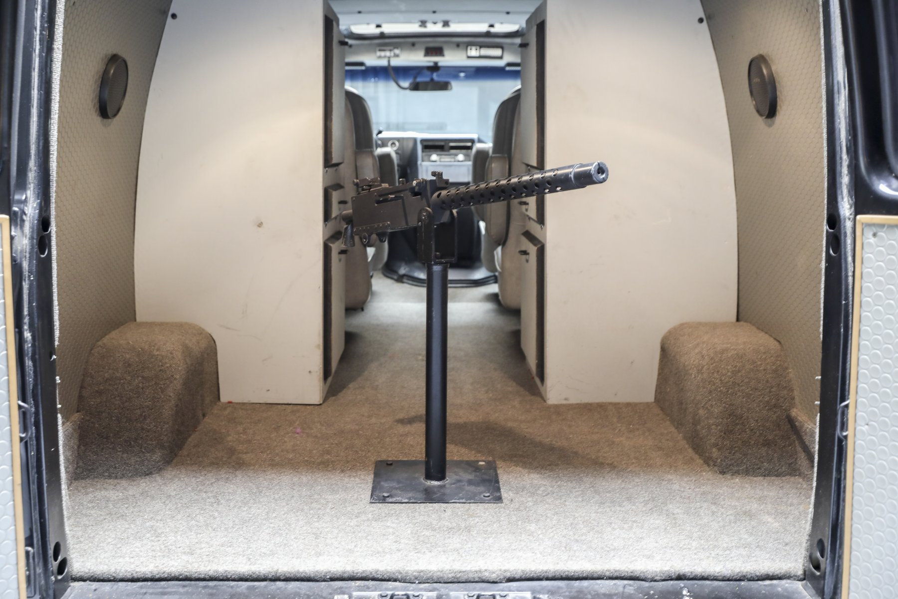 A-Team GMC G-Series 83 Van rear cargo 50 caliber browning gun