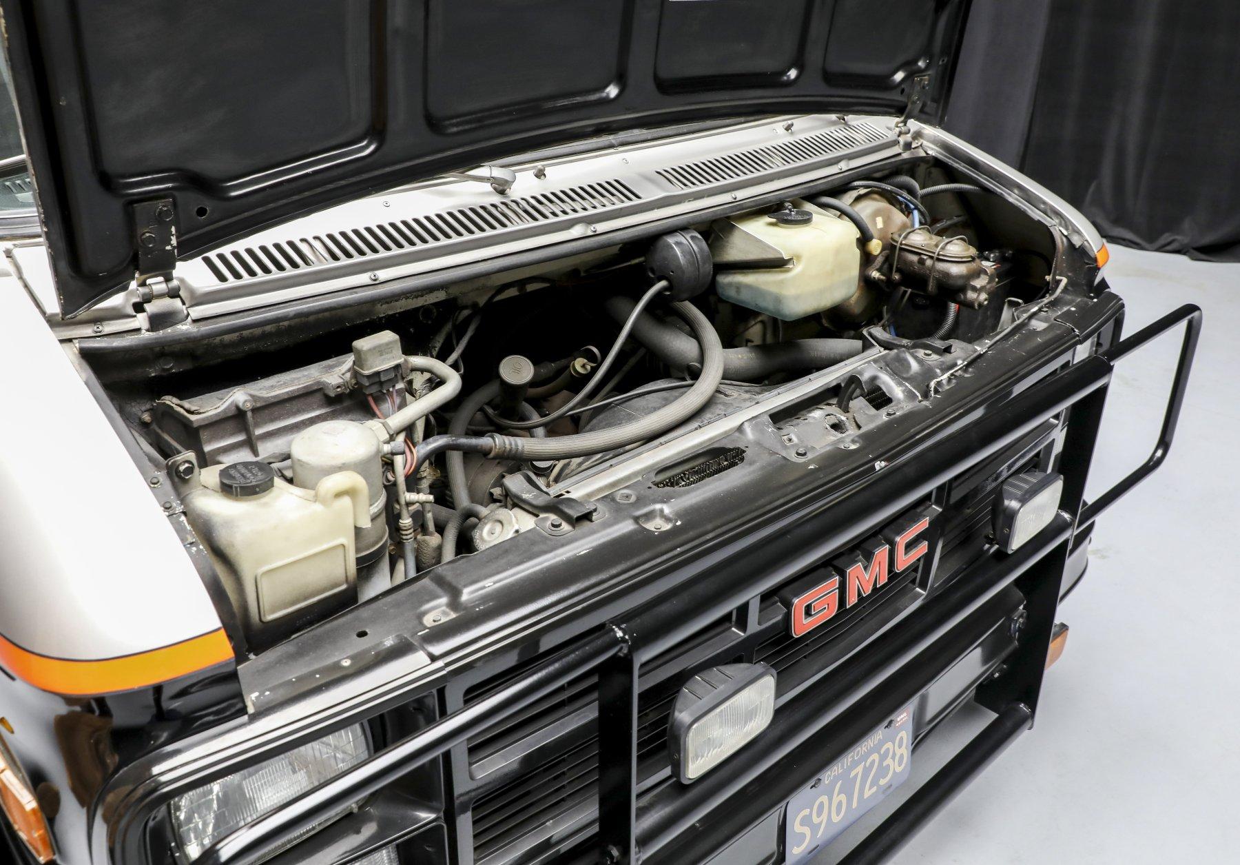 A-Team GMC G-Series 83 Van engine bay