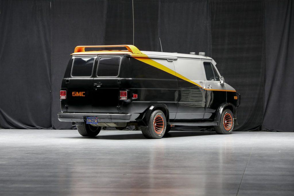 A-Team GMC G-Series 83 Van rear three-quarter