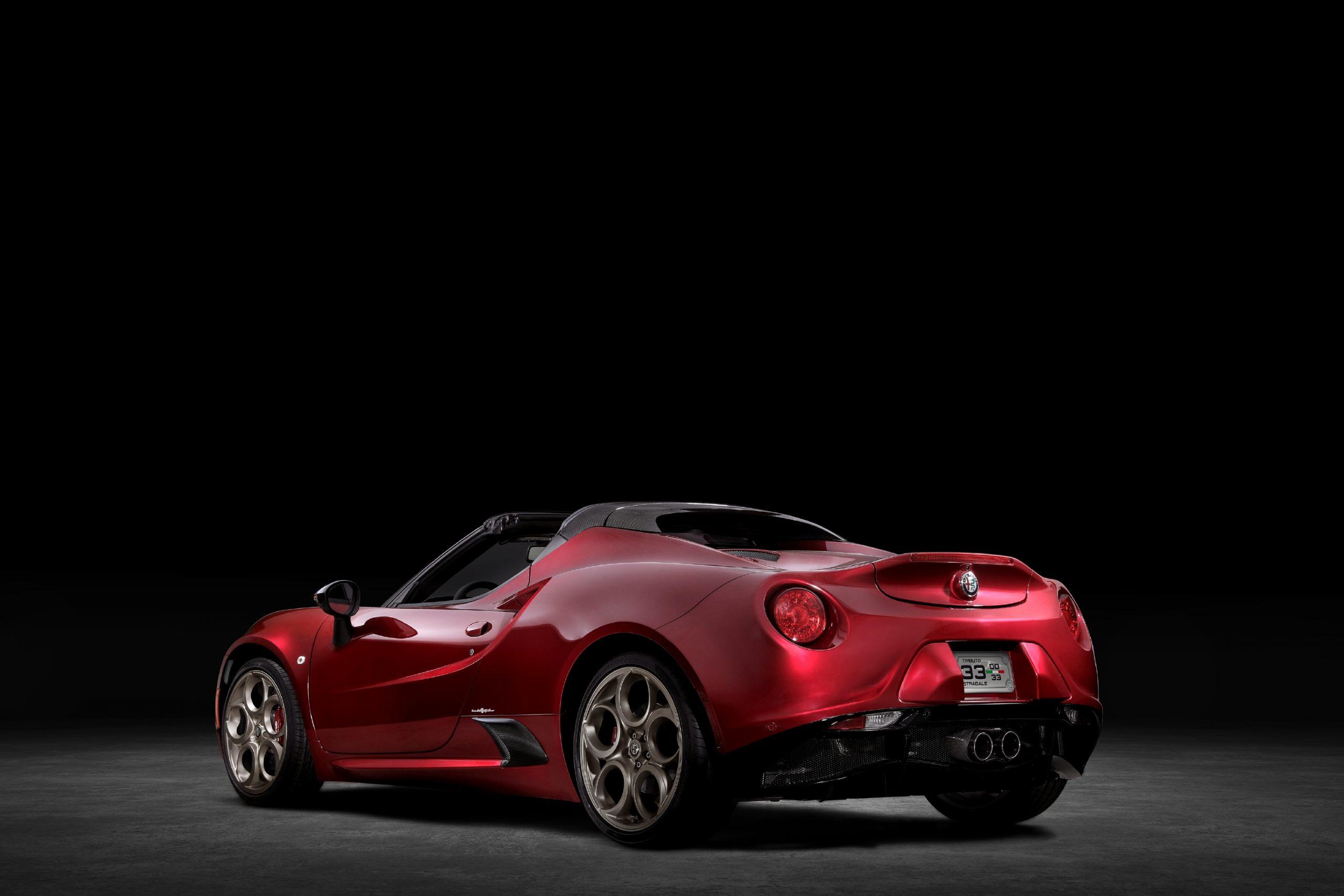 2020 Alfa Romeo 4C Spider 33 Stradale Tributo rear three quarter