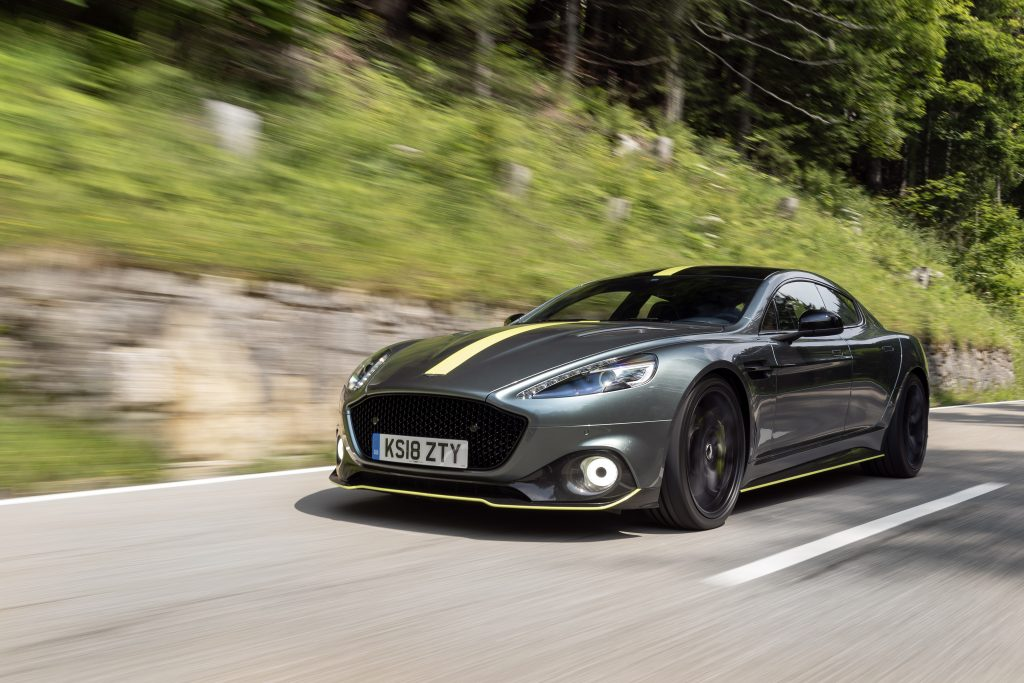 Aston Martin Rapide AMR dynamic action