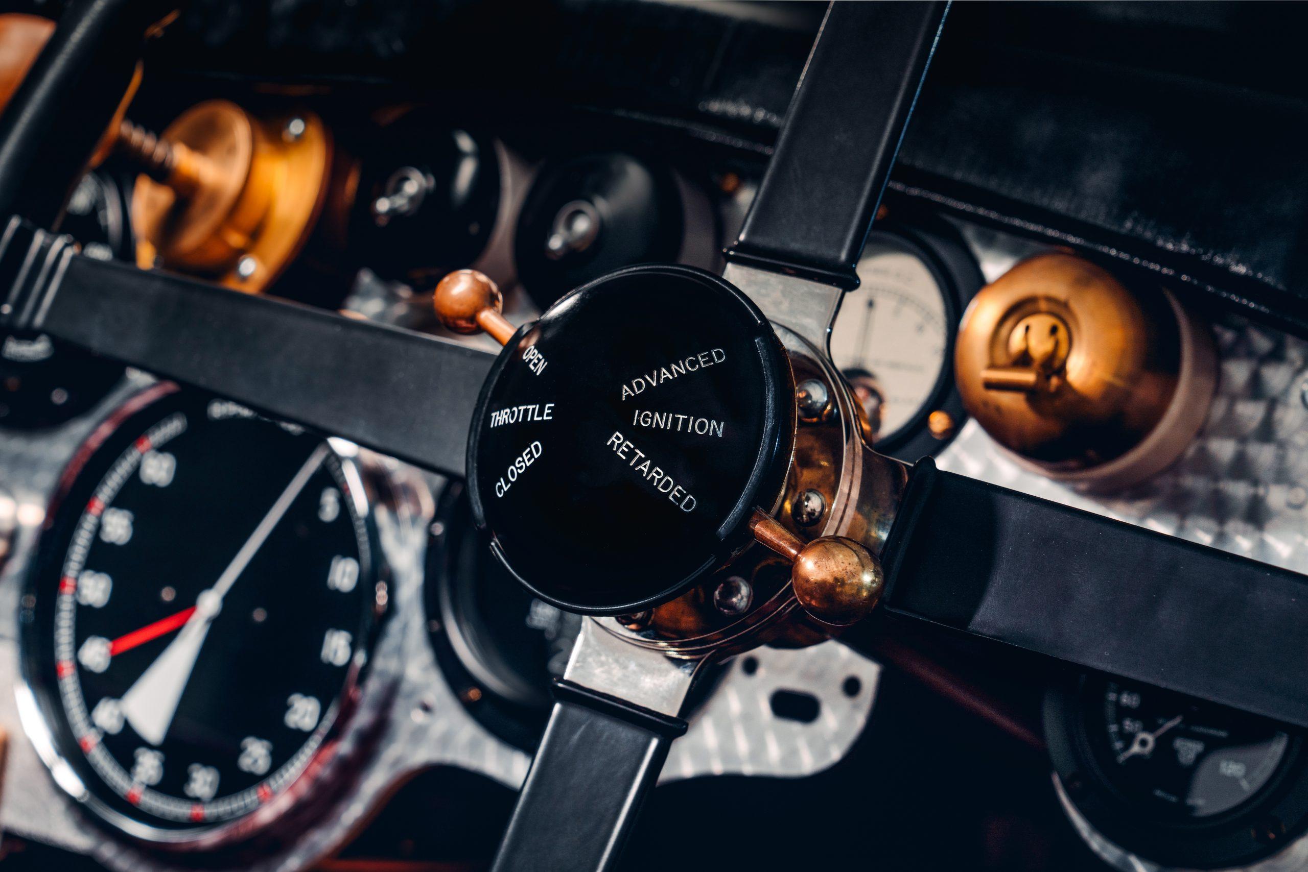 Bentley Blower Car Zero detail ignition throttle timing steering wheel