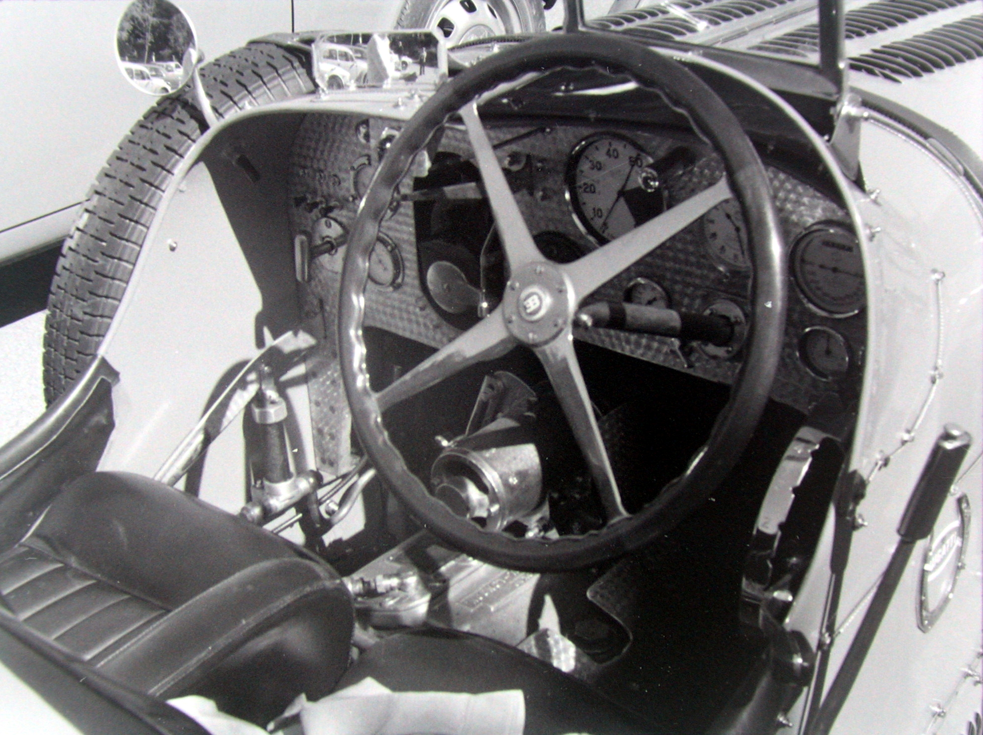 Bugatti 51 Cockpit with Preselector gearshift clutchless