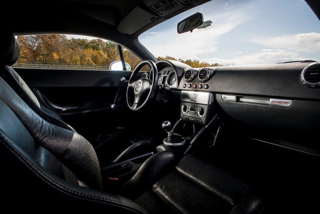 Audi TT Quattro interior front dash angle