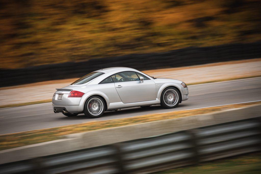 Audi TT Quattro rear three-quarter dynamic action