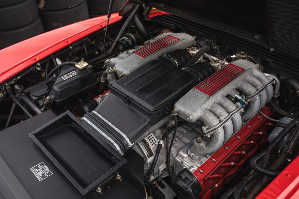 Ferrari Testarossa engine bay