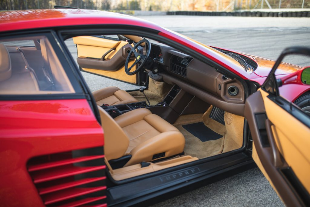 Ferrari Testarossa door open interior