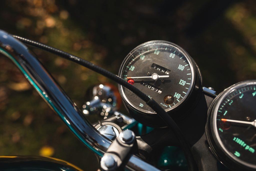 Honda CB750 speedometer gauge detail