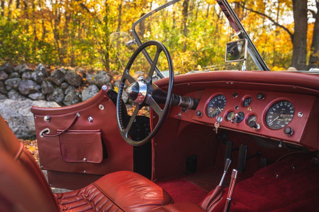 2021 Jaguar XK 120 interior front dash angle