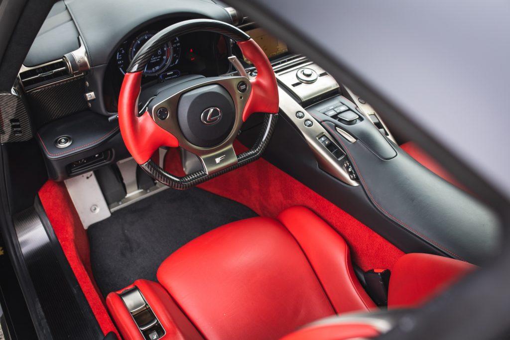 Lexus LFA interior drivers seat cockpit