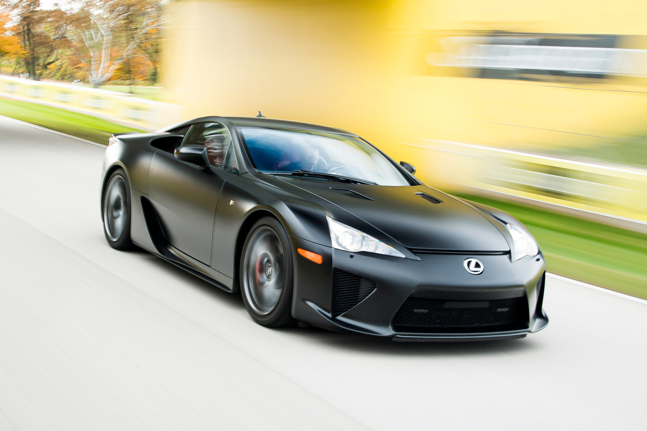 Lexus LFA front three-quarter action