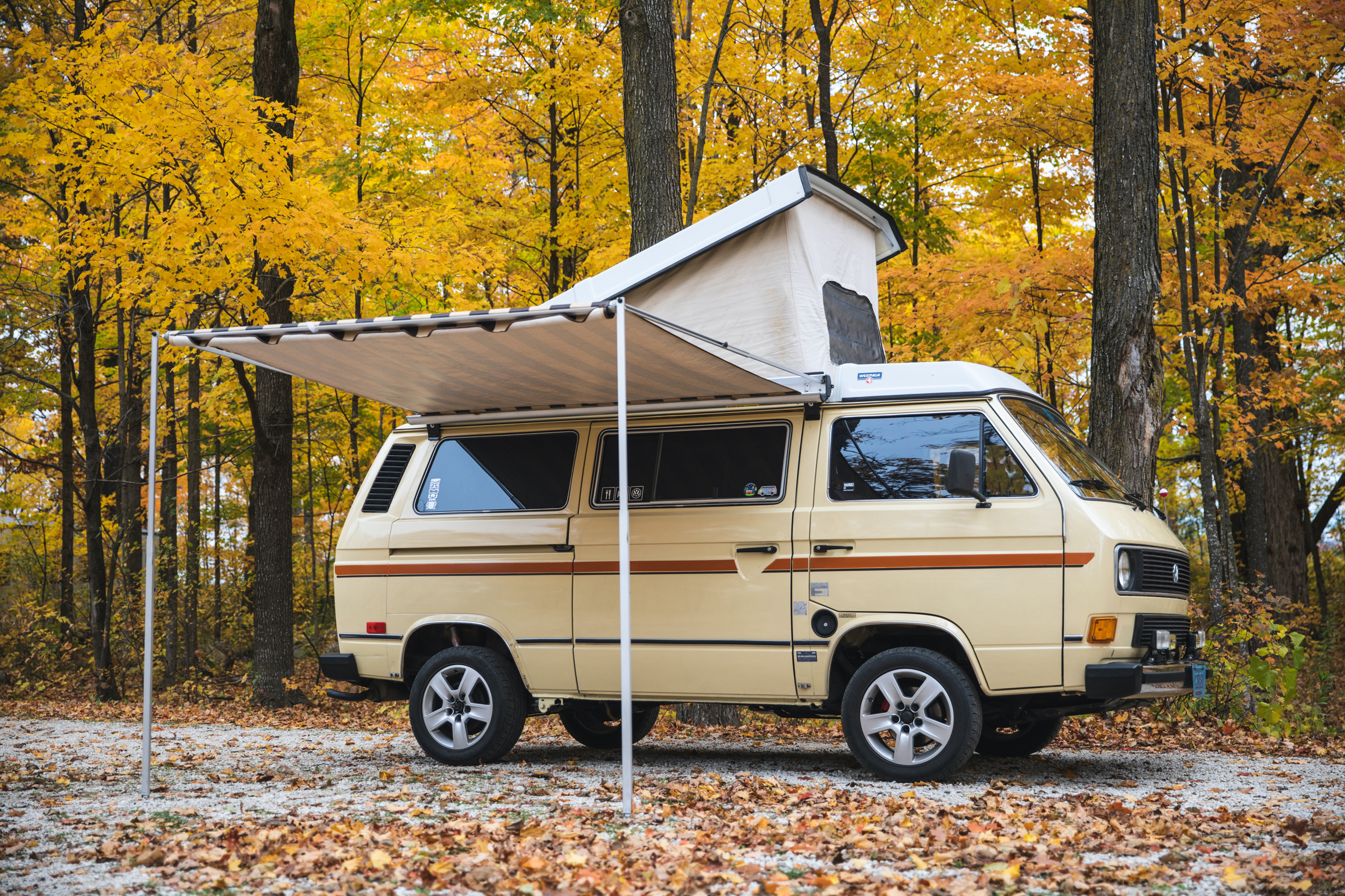 Volkswagen Vanagon top and awning out