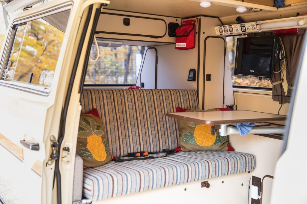 Volkswagen Vanagon interior rear seat